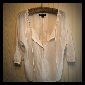 American Eagle white peasant blouse